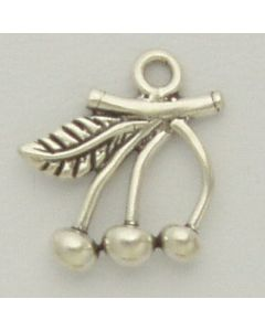 Sterling Silver Cherries Charm