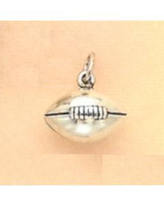 Sterling Silver Football Charm: Large