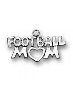 Sterling Silver Football Charm: Mom F-193