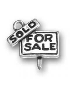 Sterling Silver For Sale Sign Charm