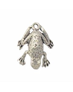 Sterling Silver Frog Charm: Textured Back