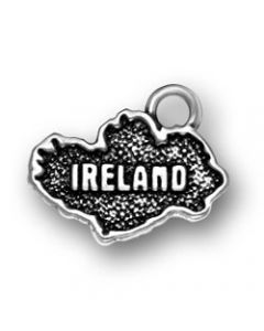 Sterling Silver Country Of Ireland Charm