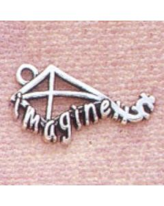 "Sterling Silver Kite W/ ""Imagine"" Charm"