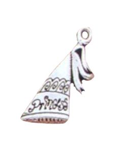"Sterling Silver Hat Charm: Cone w/ ""Princess"""