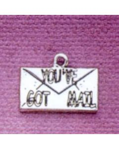 "Sterling Silver Computer Charm: ""You've Got Mail"""