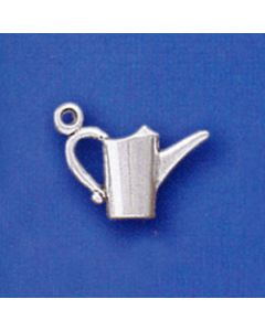 Sterling Silver Watering Can Charm: 3D