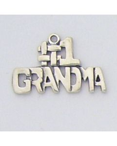"Sterling Silver Grandmother Charm: ""#1 Grandma""  G-221"