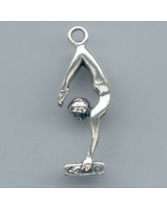 Sterling Silver Gymnast Charm: Balance Beam, Large