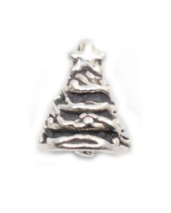 Sterling Silver Christmas Tree Charm: Small