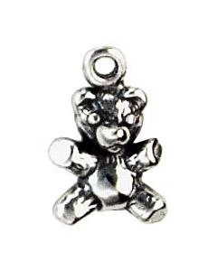 Sterling Silver Teddybear Bear Charm: Mini GG-895