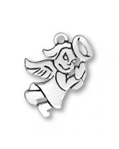 Sterling Silver Angel Charm: Mini, Flat