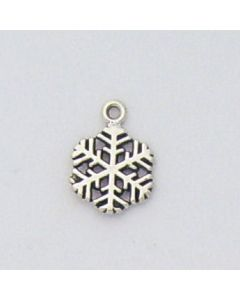 Sterling Silver Snowflake Charm: Medium GG-914