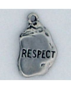 Sterling Silver Nugget Charm: Respect