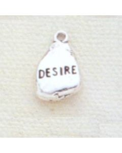 Sterling Silver Nugget Charm: Desire