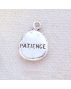 Sterling Silver Nugget Charm: Patience