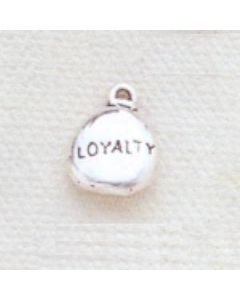 Sterling Silver Nugget Charm: Loyalty