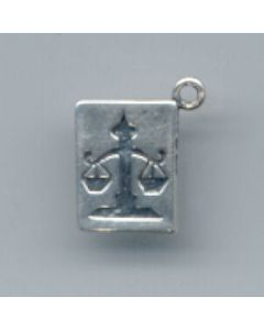 Sterling Silver Book Charm: Law Book