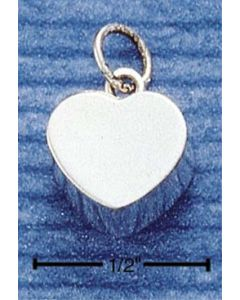 Sterling Silver Heart Charm: Box Heart