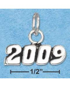 Sterling Silver Graduation 2009 Year Charm HH-921