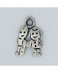 Sterling Silver Boy & Girl Charm: Small, Flat HH-922