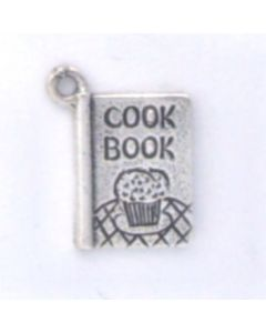 Sterling Silver Cookbook Charm HH-945