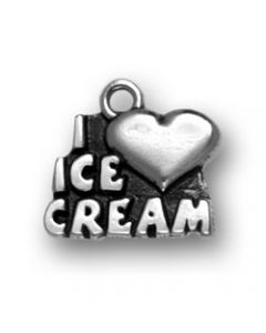 Sterling Silver Ice Cream Charm: I * Ice Cream
