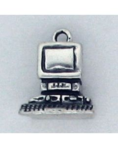 Sterling Silver Computer Charm HHH-1935