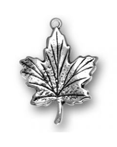 Sterling Silver Maple Leaf Charm, Fall, Autumn