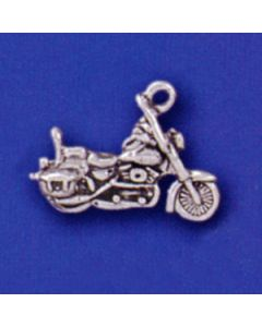 Sterling Silver Motorcycle Bike Charm I-301