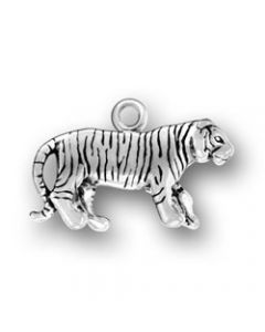 Sterling Silver Tiger Charm II-959