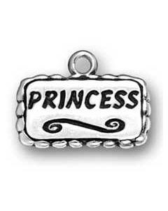 "Sterling Silver ""Princess"" Charm:"
