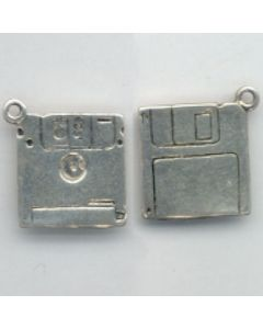 Sterling Silver Computer Charm: Disc