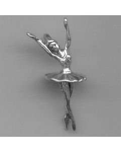 Sterling Silver Ballerina Charm III-1944