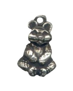 Sterling Silver Bear Charm: Panda, Large