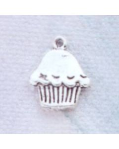 Sterling Silver Muffin/Cupcake Charm