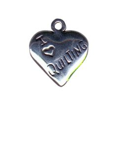 Sterling Silver Quilting Charm: Heart