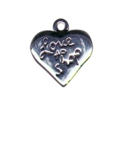 Sterling Silver Shopping Heart Charm