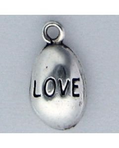 Sterling Silver Nugget Charm: Love