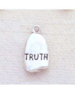 Sterling Silver Nugget Charm: Truth
