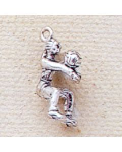 Sterling Silver Volleyball Player Charm JJ-0989