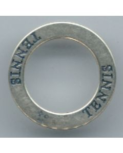 Sterling Silver Affirmation Circle Charm: Tennis
