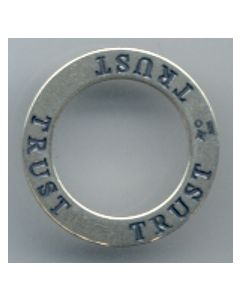 Sterling Silver Affirmation Circle Charm: Trust