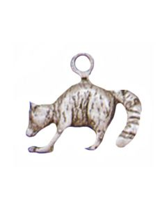 Sterling Silver Raccoon Charm