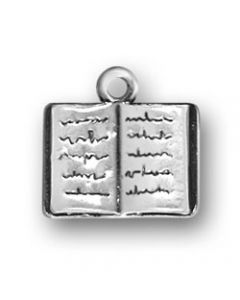 Sterling Silver Book Charm: Open