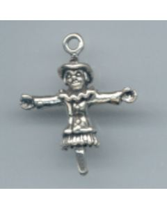 Sterling Silver Wizard Of Oz Charm: Scarecrow