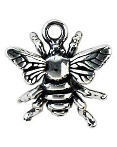 Sterling Silver Bee Charm: Small