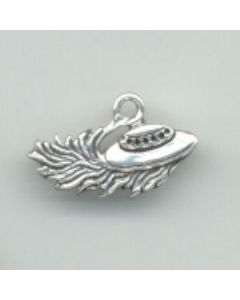 Sterling Silver Flying Saucer Charm