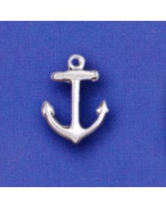 Sterling Silver Anchor Charm: Small
