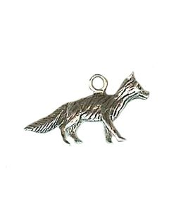 Sterling Silver Dog Charm: German Shepherd, Small