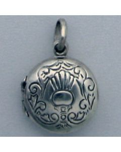 Sterling Silver Locket Charm: Round